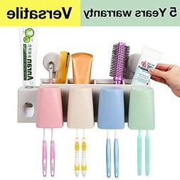 Luvan 4-in-1 Multifunctional Toothbrush Holder with Automati