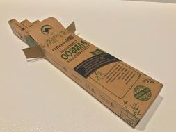 Bamboo/ Carbon Tip Toothbrushes 100% Natural. Four Pack. GRE