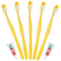 100PCS Disposable toothbrush Soft Bristles Hotel travel Manu
