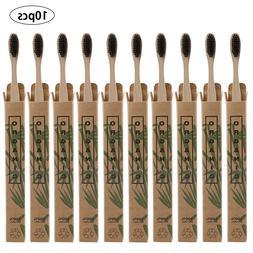 10pcs Natural Bamboo <font><b>Handle</b></font> <font><b>Too