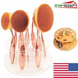 10Pcs Professional Makeup Brushes Set Oval Cream Toothbrush