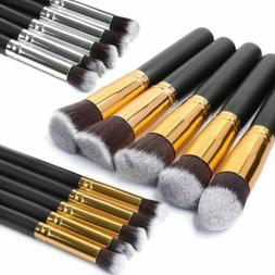10Pcs Toothbrush Shape Makeup Brushes Oval Set Facial Eye Co