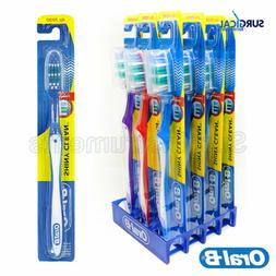 12 Pack Oral-B Shiny Clean Soft 35 Ergonomic Z Shaped Bristl
