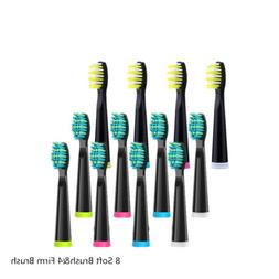 12pc Fairywill Electric Toothbrush Replacement Heads Cover B
