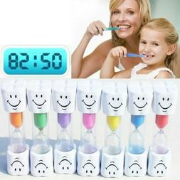 1Pcs 2 Minute Smiley Sand Kids Toothbrush Timer Hourglass Eg