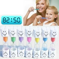 1Pcs 2 Minutes Toothbrush Timer Sand Clock Smiling Face Deco