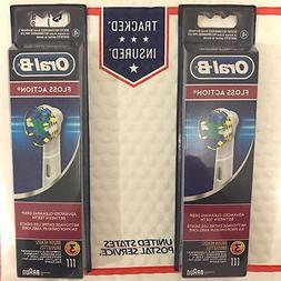 2 PACK = 6 PCS = 14.99 Oral-B Floss Action Toothbrush heads