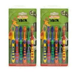 2 Pack Ora-Zen Kids' Soft Multi-Color Toothbrush 3+Years