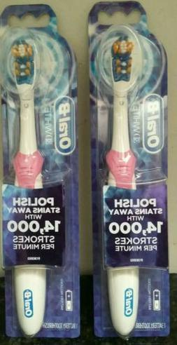 2 Pack Oral-B 3D White Battery-Powered Electric Toothbrush b
