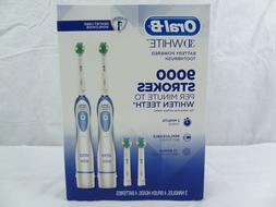 2-Pack Oral-B 3D White Battery Powered Toothbrush 9000 Strok