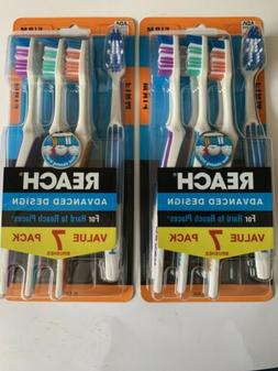 2 PACKS Reach Advanced Design Toothbrush, Firm, 7count/pack,