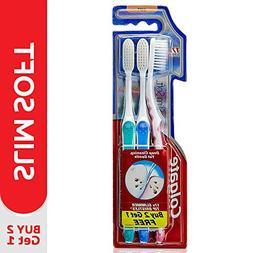 2 Colgate Slim Soft Toothbrush  - 17x Slimmer Tip Bristles