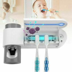 3 in 1 UV Light Toothbrush Holder Sanitizer Automatic Toothp
