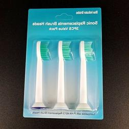 3 pcs x Generic Sonicare Toothbrush head Compatible for Phil