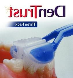 3 PACK :: DenTrust 3-Sided Toothbrush :: Soft :: Wrap-Around