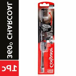 360 charcoal battery toothbrush refill multicolor