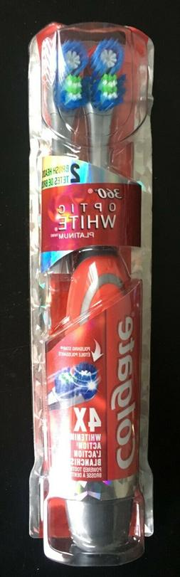 Colgate 360 Optic White Platinum Electric Toothbrush with 2