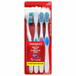 Colgate 360 Optic White Whitening Toothbrush, Soft - 4 Count