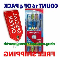 Colgate 360 Total Advanced Floss-Tip Slim Toothbrush, Soft,