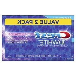 Crest 3D White Radiant Mint Whitening Toothpaste, 3.5 oz Twi