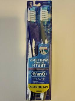 Oral-B 3D White Radiant Whitening Toothbrush, Soft, 2 ea