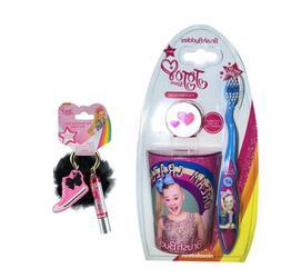 3pcs Jojo siwa pink Big Girl  Toothbrush Cap & Rinsing Cup S
