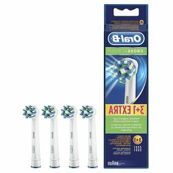 4 BRAUN ORAL B CROSS ACTION TOOTHBRUSH REPLACEMENTS BRUSH HE