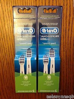 4 ORAL-B Deep Sweep Replacement Toothbrush Tooth Brush Heads