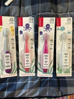 4 Pcs Radius Toothbrush 6 Months+,  18 Months +, 3 Years +