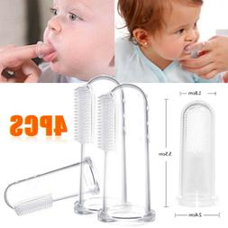 4pcs Baby Buddy Infant Finger Tooth/Gum Brush Silicone Tooth