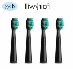Fairywill 4pcs x Soft Bristles Electric Toothbrush Heads for