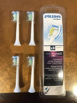 4x diamonclean hx6064 replacement toothbrush brush heads