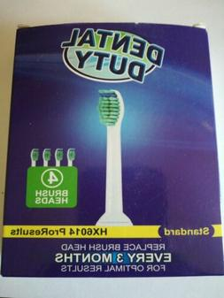 4X Philips Sonicare ProResults HX6014 Replacement Toothbrush