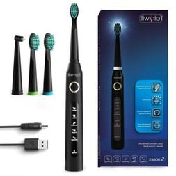 Fairywill Electric Toothbrush Rechargeable Kids Adults 5 Mod