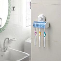 5 Set Toothbrush Spinbrush Suction Holder Wall Mount Stand R