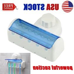 5 Set Toothbrush Spinbrush Wall Mount Suction Holder Stand R
