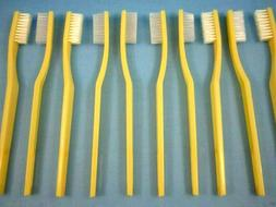 """50- IVORY WHITE TOOTHBRUSHES BULK LOT OF FIFTY  """"GREAT PRICE"""