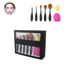 5Pcs toothbrush type makeup brushes Beauty Oval Droplets puf