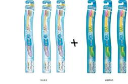 6 Aquafresh 3+ months Training Toothbrush 3 Blue & 3 Green