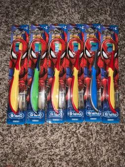 6 PACK ORAL-B KIDS SPIDERMAN TOOTHBRUSHES *NEW*