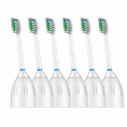 6 Pack Replacement Brush Heads for Philips Sonicare E series