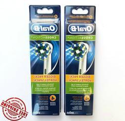 8 Braun Oral B Cross Action Toothbrush Replacement Heads 8 B