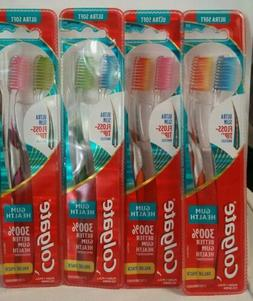 8 COUNT  COLGATE ULTRA SOFT SLIM FLOSS TIP TOOTHBRUSHES NEW