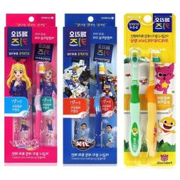 4 Pack Perio Kids Toothbrushes - PINKFONG / HELLO CARBOT / I
