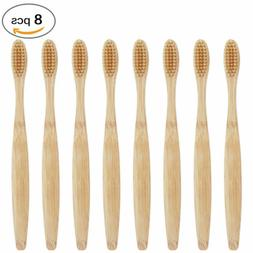 8 pcs bamboo toothbrush eco friendly biodegradable