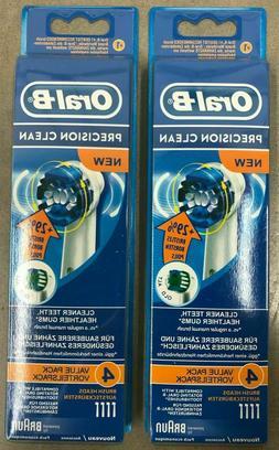 8x pcs BRAUN ORAL B PRECISION CLEAN TOOTHBRUSH REPLACEMENT B