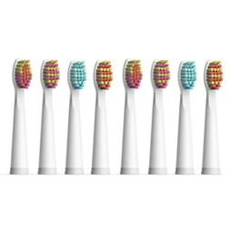 8X Soft Brush Heads White for Fairywill Electric Toothbrush