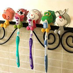 Creative Cute Cartoon Animals Toothbrush Holder Cover with S
