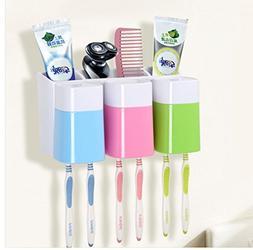 Eslite Toothbrush Holder Wall Mounted for Bathroom Storage O