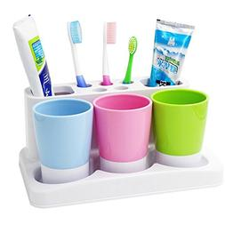 Tonze Plastic Bathroom Toothbrush Tooth Paste Stand Holder S